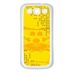 Texture Yellow Abstract Background Samsung Galaxy S3 Back Case (White)