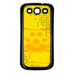 Texture Yellow Abstract Background Samsung Galaxy S3 Back Case (Black)