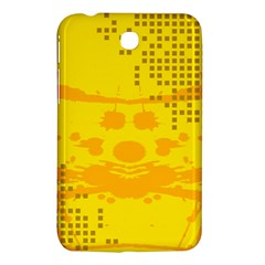 Texture Yellow Abstract Background Samsung Galaxy Tab 3 (7 ) P3200 Hardshell Case