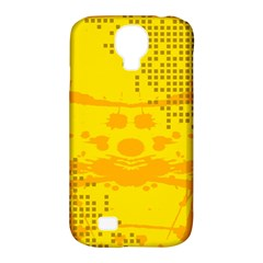 Texture Yellow Abstract Background Samsung Galaxy S4 Classic Hardshell Case (PC+Silicone)