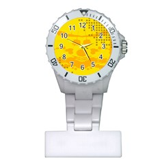 Texture Yellow Abstract Background Plastic Nurses Watch