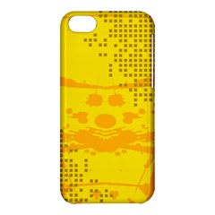 Texture Yellow Abstract Background Apple Iphone 5c Hardshell Case