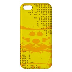 Texture Yellow Abstract Background iPhone 5S/ SE Premium Hardshell Case