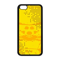 Texture Yellow Abstract Background Apple iPhone 5C Seamless Case (Black)
