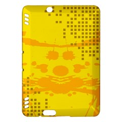 Texture Yellow Abstract Background Kindle Fire HDX Hardshell Case