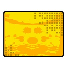 Texture Yellow Abstract Background Double Sided Fleece Blanket (Small)