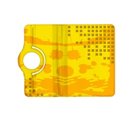 Texture Yellow Abstract Background Kindle Fire Hd (2013) Flip 360 Case