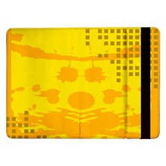 Texture Yellow Abstract Background Samsung Galaxy Tab Pro 12 2  Flip Case