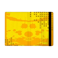 Texture Yellow Abstract Background iPad Mini 2 Flip Cases