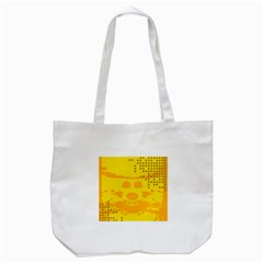 Texture Yellow Abstract Background Tote Bag (white)