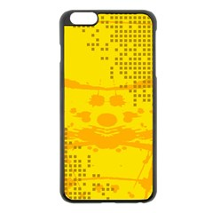 Texture Yellow Abstract Background Apple Iphone 6 Plus/6s Plus Black Enamel Case