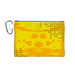 Texture Yellow Abstract Background Canvas Cosmetic Bag (m)