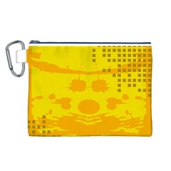 Texture Yellow Abstract Background Canvas Cosmetic Bag (L)
