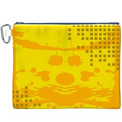 Texture Yellow Abstract Background Canvas Cosmetic Bag (XXXL)