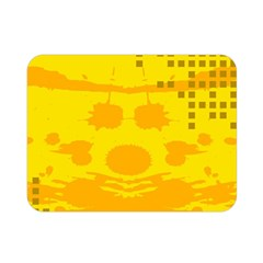 Texture Yellow Abstract Background Double Sided Flano Blanket (mini)