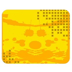 Texture Yellow Abstract Background Double Sided Flano Blanket (medium)