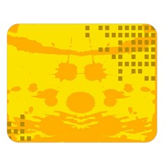 Texture Yellow Abstract Background Double Sided Flano Blanket (Large)