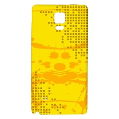 Texture Yellow Abstract Background Galaxy Note 4 Back Case