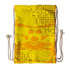 Texture Yellow Abstract Background Drawstring Bag (Large)