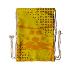 Texture Yellow Abstract Background Drawstring Bag (small)