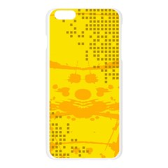 Texture Yellow Abstract Background Apple Seamless iPhone 6 Plus/6S Plus Case (Transparent)