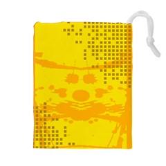 Texture Yellow Abstract Background Drawstring Pouches (extra Large)