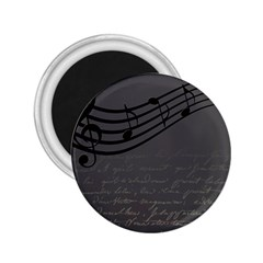 Music Clef Background Texture 2.25  Magnets