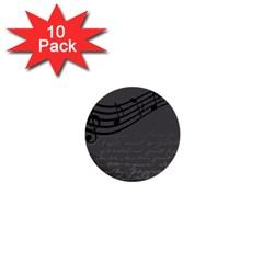 Music Clef Background Texture 1  Mini Buttons (10 pack)