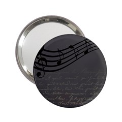 Music Clef Background Texture 2.25  Handbag Mirrors
