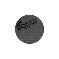 Music Clef Background Texture Golf Ball Marker (10 Pack)