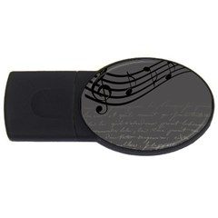 Music Clef Background Texture USB Flash Drive Oval (2 GB)