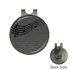 Music Clef Background Texture Hat Clips with Golf Markers