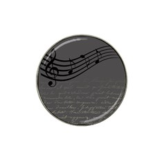 Music Clef Background Texture Hat Clip Ball Marker (10 pack)