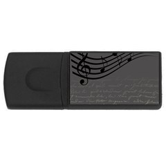 Music Clef Background Texture Usb Flash Drive Rectangular (4 Gb)