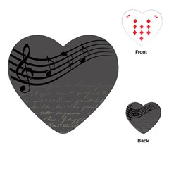 Music Clef Background Texture Playing Cards (Heart)