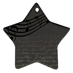Music Clef Background Texture Star Ornament (Two Sides)