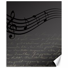 Music Clef Background Texture Canvas 8  x 10