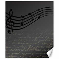 Music Clef Background Texture Canvas 20  x 24