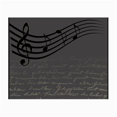 Music Clef Background Texture Small Glasses Cloth (2-Side)
