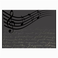 Music Clef Background Texture Large Glasses Cloth
