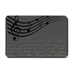 Music Clef Background Texture Small Doormat