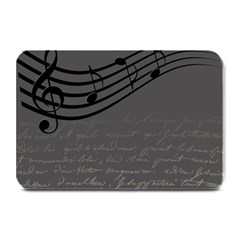 Music Clef Background Texture Plate Mats