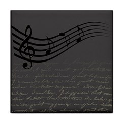 Music Clef Background Texture Face Towel