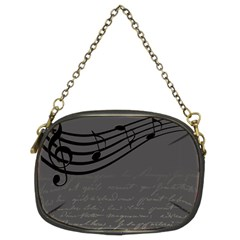 Music Clef Background Texture Chain Purses (two Sides)