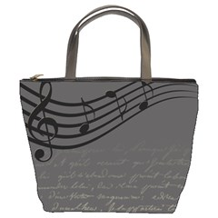 Music Clef Background Texture Bucket Bags