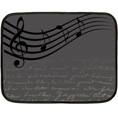 Music Clef Background Texture Double Sided Fleece Blanket (mini)