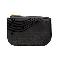 Music Clef Background Texture Mini Coin Purses