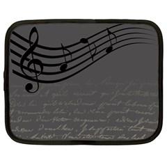 Music Clef Background Texture Netbook Case (xl)