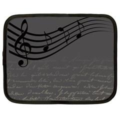 Music Clef Background Texture Netbook Case (XXL)