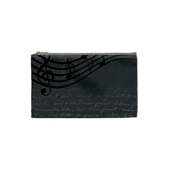 Music Clef Background Texture Cosmetic Bag (small)